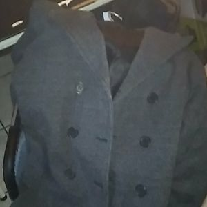 Hurley gray pea coat